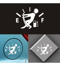 10CM * 12CM funny car acceorie high air conumption decal fuel table empty ticker vinyl JDM car ticker car tyling