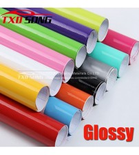 10/20/30/40/50/60*152CM High Quality Black Gloy Vinyl Film Glo Black Wrap Bubble Free Car Wrapping by free hipping