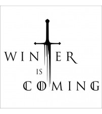 """Winter I Coming"" Decal Game Of Throne Vinyl ticker For Car Decor"