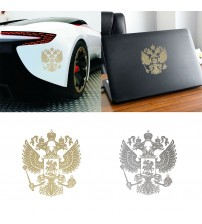 1 Pc Coat of Arm of Ruia Car ticker Ruian Federation Eagle Emblem for Car tyling Laptop ticker Automobile Decoration