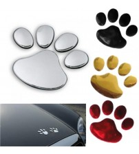 1 Pair Car ticker Dog Paw 3D Animal Dog Cat Bear Footprint PVC Car ticker Nick Cover ticker for Car Auto Motorcycle Decor