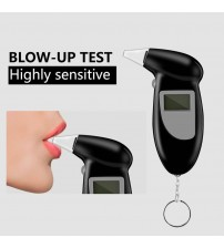 Profeional Alcohol Breath Teter Breathalyzer Analyzer Detector Tet Keychain Breathalizer Breathalyer DeviceLCD creen