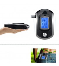 Digital Breath Alcohol Teter Breathalyzer with LCD Dipaly with 5 Mouthpiece Police Alcohol Parking Breathalyer