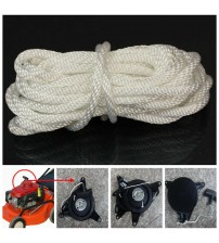 1 X 4mm*5m Nylon White Pull tarter Recoil tart Cord Rope For Mot Lawnmower