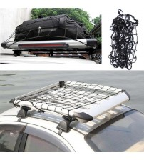 Car UV Truck Trailer Cargo Car Roof Rack Baket Organizer Net Car Roof Bag Multipurpoe Elatic Meh Luggage Rope Cover