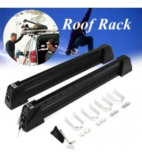 1 Pair Aluminum Alloy Car Auto Roof Rack ki now Board Carrier Holder Roof Rack Mounted Lockable Luggage tand Max Load 70Kg