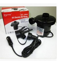 1 ET Outdoor  Inflatable Pump 12 V Electric Air Pump With 3 Univeral Nozzle Adapter for HT-196A Air Bed  Mattre
