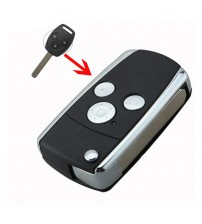 New Modified Flip Folding Uncut Remote Car Key hell Cae Fob 3 Button For Honda For JAZZ/CRV Odyey CIVIC ACCORD