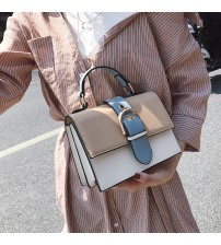 Women's Designer Handbag  Fashion New High quality PU Leather Women bag Contrast Lady Tote Shoulder Messenger Bag Crossbody-in Shoulder Bags from Luggage & Bags on