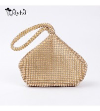 4 Colors Soft Beaded Women Evening Bag Cover Open Style Lady Wedding Triangle Glitter Handbag Purse Bag For New Year Gift Clutch-in Top-Handle Bags from Luggage & Bags on AliExpress