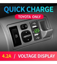 New Car Usb Toyota Auto Charger for mobile phone 12V 24V Adapter Dual Usb 4.2A Cigarette Socket Lighter For Smart Phone Voltage-in Cables, Adapters & Sockets from Automobiles & Motorcycles on AliExpress