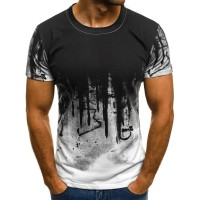 The new 2020 3D Inkblotting men's Breathable Cool T shirt, a hot summer selling men's fashion round collar short T shirt|T-Shirts|   -