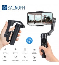 Salmoph Handheld Gimbal Smartphone Foldable Gimbal Stabilizer Pocket Sized 3 Axis Handheld Selfie Stick for Xiaomi Iphone|Handheld Gimbal|   -