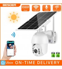 Besder 1080P Solar Panel WiFi Camera Ai Human Detection 2MP Full Color IR Vision Outdoor IP Camera With Battery For Long Standby|Surveillance Cameras|   -