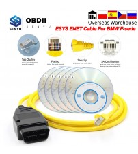 New EY Data Cable For BMW ENET Ethernet to OBD Interface E-Y ICOM Coding for F-erie Diagnotic Cable