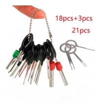 11/14/18/21pc Auto Car Plug Circuit Board Wire Harne Terminal Extraction Diaembled Crimp Pin Back Needle Remove Tool Kit