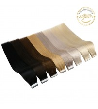 [Free Tapes] Ugeat Tape in Human Hair Extensions Real Brazilian Hair 10P/20P/40P Remy Straight Double Sided Tape Hair 2.5g/P|Tape Hair Extensions|   - AliExpress