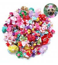 100X Handmade Nice Pet Dog Hair Bows for Puppy Small Dogs Grooming Bows Dog Hair Accessories Pet Supplies for Dogs Wedding Party|hair bow dog|bow dogdog hair bows -
