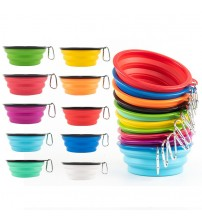 1000ml Large Collapsible Dog Pet Folding Silicone Bowl Outdoor Travel Portable Puppy Food Container Feeder Dish Bowl|Dog Feeding|   -