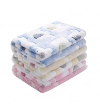 1 Pack 3 Blankets Super Soft Fluffy Premium Coral Fleece Pet Blanket Flannel Throw For Dog Puppy Cat|Houses, Kennels & Pens|   -