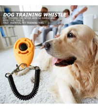 1 Piece Pet Cat Dog Training Clicker Plastic New Dogs Click Trainer Aid Too Adjustable Wrist Strap Sound Key Chain dog whistle|Dog Whistles|   -