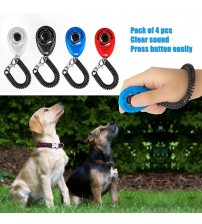 1 Piece Pet Cat Dog Training Clicker Plastic New Dogs Click Trainer Aid Too Adjustable Wrist Strap Sound Key Chain Dog Supplies|Training Clickers|   -