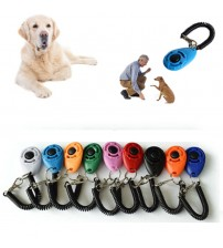 1 Piece Pet Cat Dog Training Clicker Plastic New Dogs Click Trainer Aid Too Adjustable Wrist Strap Sound Key Chain dog whistle|Agility Equipment|   -