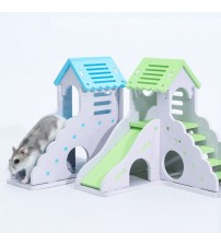 Wooden Hamster Staircase Bedroom Golden Bear Nest Small Pet Bed Chinchilla Guinea Pig Small Pet Cage Toy Hamster Cage Supplies Cages    -