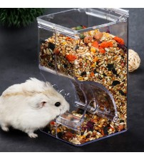 Transparent Hamster Food Feeder Clear Refillable Hamster Food Dispenser Hamster Water Feeder Food Bowl Container      -