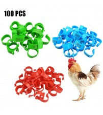 100pcs/lot Chicken Leg Rings Poultry Ankle Bands Number Tag Markers for Birds Gamefowl Turkey Duck|Cages & Accessories|   -