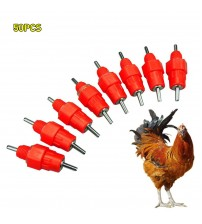 10 50PCS Automatic Chicken Water Nipple Drinker Feeders Poultry Hen Screw Style Mouth Water Poultry Farming Feeding Equipment|Feeding & Watering Supplies|   -