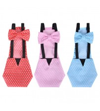 New Adjustable Cotton Cloth Diaper Washable Creative Bowknot Clothes for Farm Pet|Carriers|   -