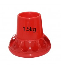 1 Pcs Poultry Feeding Tools 1.5Kg Red Plastic Chicken Feeders Quail Feed Bucket Poultry Farming Tools|Feeding & Watering Supplies|   -