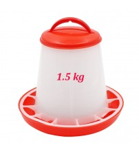 1.5kg Chicken Feeder Bucket Poultry Food Feeding Tools Chicken Chick Hen Poultry Lid Handle Pail Feeding Watering Supplies|Feeding & Watering Supplies|   -