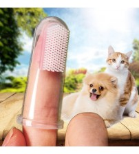 Super Soft Pet Finger Toothbrush Teddy Dog Brush Bad Breath Tartar Teeth Tool Dog Cat Cleaning Supplies Hot Selling|Pet Toothbrushes|   -