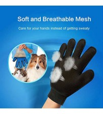 True Touch Combing Brush Cat Dog Feather Collection Cleaning Glove Feather Collector Cleansing Glove Massage Made in Turkey Pet Skin Care    -