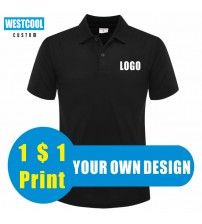 WESTCOOL Summer Casual Men And Women Short Sleeved Polo Shirts Custom Logo Embroidery Printing Personalized Design Tops|Polo|   -