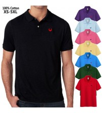 XS 5XL 100% Cotton Men's Short Sleeve Polos Shirts Casual Embroidery Logo Lapel Summer Male Tops Fashion Polos Homme Clothing|Polo|   -