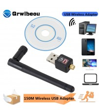 WiFi Wireless Network Card USB 2.0 150M 802.11 b/g/n LAN Adapter with rotatable Antenna for Laptop PC Mini Wi fi Dongle|Network Cards|   -