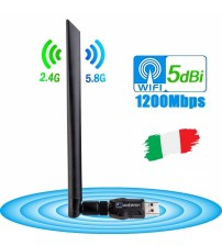 [ANEWISH Wifi Adapter]  1200Mbps to ItalyStable For Smart TV Android Box Laptop Computer|USB Bluetooth Adapters/Dongles|   -