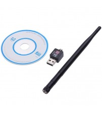 Wifi Adapter 600M USB 2.0 Wifi Router Wireless Adapter Network LAN Card With 5 dBI Antenna For Laptop Computer Internat TV|Network Cards|   -