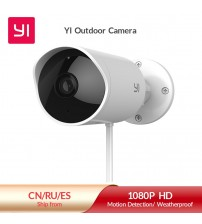 YI Outdoor Security Camera Cloud IP Cam Wireless 1080p resolution Waterproof Night Vision Security Surveillance System White|camera cloud|wireless ipoutdoor security camera -