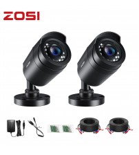ZOSI 2pcs/lot 1080P HD TVI 2MP CCTV Security Camera ,80ft Night Vision ,Outdoor Whetherproof Home Surveillance Camera Kit|Surveillance Cameras|   -