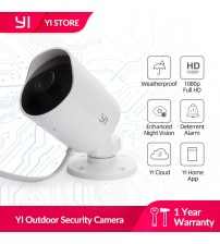 YI Outdoor Camera 1080P ip camera SD card slot & Cloud Wireless Motion activated alerts Security Video Surveillance|camera cloud|wireless ipoutdoor security camera -