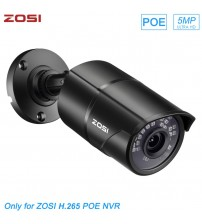 ZOSI H.265 PoE ip camera 5MP HD Outdoor Waterproof Infrared 30m Night Vision Security Video Surveillance CCTV Camera|Surveillance Cameras|   -