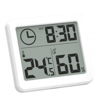 81x71x10mm Multifunction Thermometer Hygrometer Automatic Electronic Temperature Humidity Monitor Clock Large LCD Screen