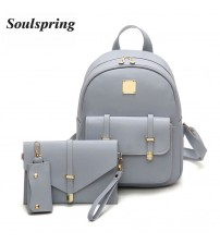 Composite Bag Pu Leather Backpack