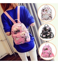 Butterfly Flower Print Small Backpack