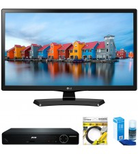 "LG 24"" Smart LED TV 2017 Model (24LH4830-PU) with Sylvania HDMI HD  DVD Player, 6ft High Speed HDMI Cable Black & Universal Screen Cleaner for LED TVs Large Bottle"