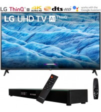 "LG 43UM7300PUA 43"" 4K HDR Smart LED IPS TV w/ AI ThinQ (2019) Includes Deco Gear Home Theater Surround Sound 31"" Soundbar (UM7300PUA 43UM7300P 43UM7300)"